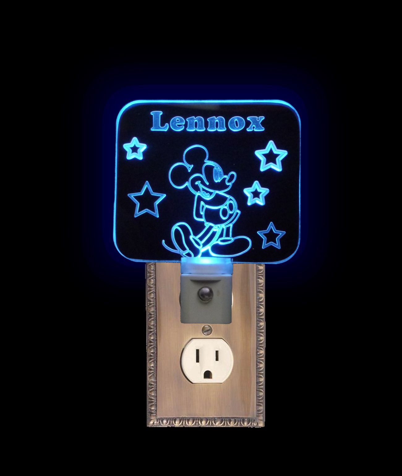 Night lights holiday - Personalized Custom Mickeymouse Night Light Unique Led Products 3d Engraved 3 8