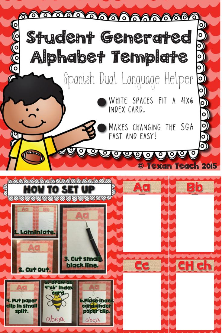 student generated alphabet template spanish dual. Black Bedroom Furniture Sets. Home Design Ideas
