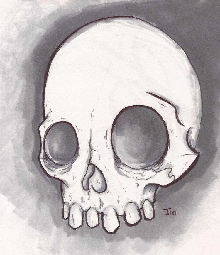 simple skull drawings - 736×852