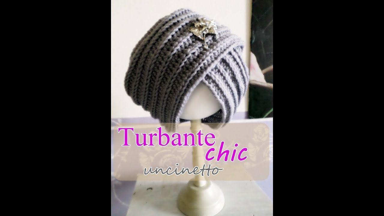 Cappello turbante all uncinetto -principianti-  1547319e38b