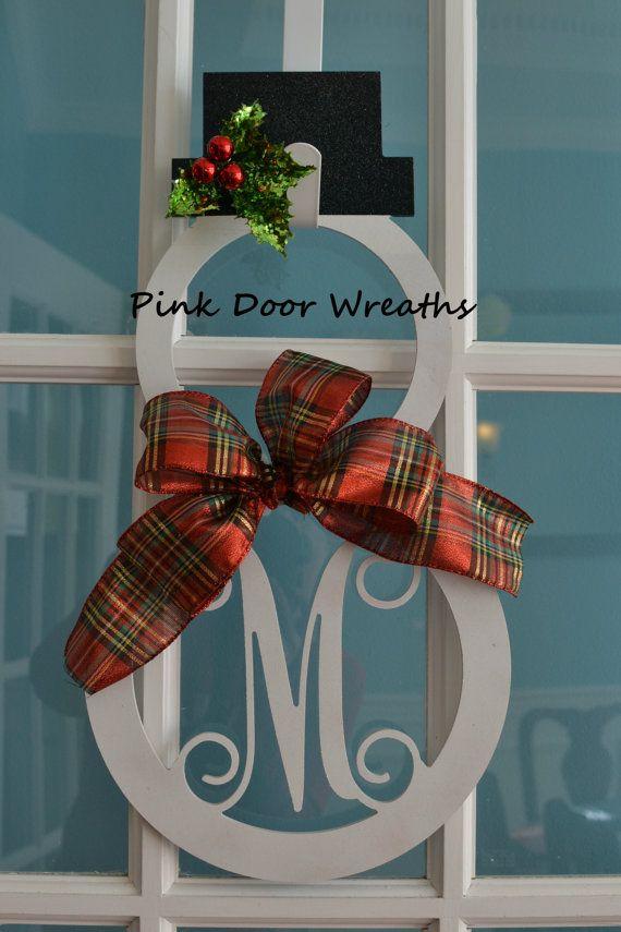 Made to Order Wreath MONOGRAM DOOR