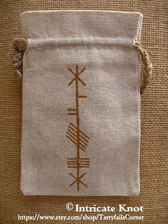 Ogham Charm Bag  Hand Painted  OOAK by TarryfailsCorner on Etsy
