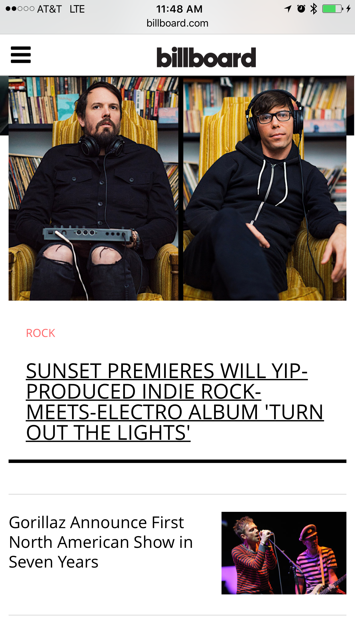 """""""Turn Out the Lights"""" - our brand new album for Sunset (snstmusic.com) is streaming right now over at Billboard.  With a nice article and interview to go along with it: http://www.billboard.com/articles/columns/rock/7744241/sunset-turn-off-the-lights-premiere-stream-will-yip-braid"""