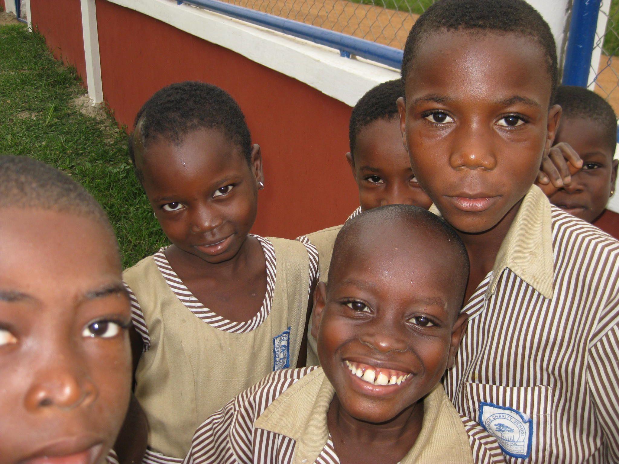 Break time! School is back, Hohoe Charity School, Hohoe