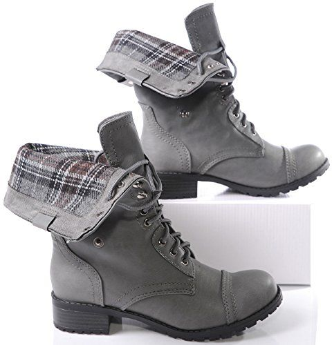 Marco Republic Expedition Womens Military Combat Boots - (Grey ...