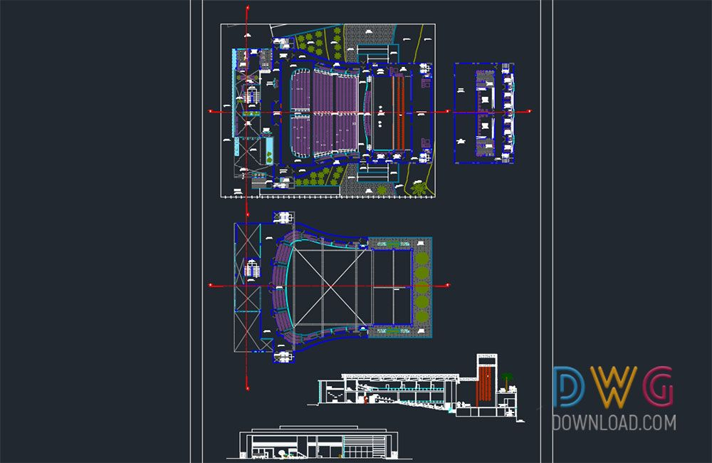 Theatre Project Dwg  And about architectural detail dwg