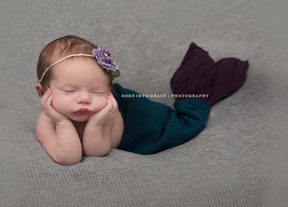 Newborn baby mermaid photography photos bornintograce lansing eastlansing