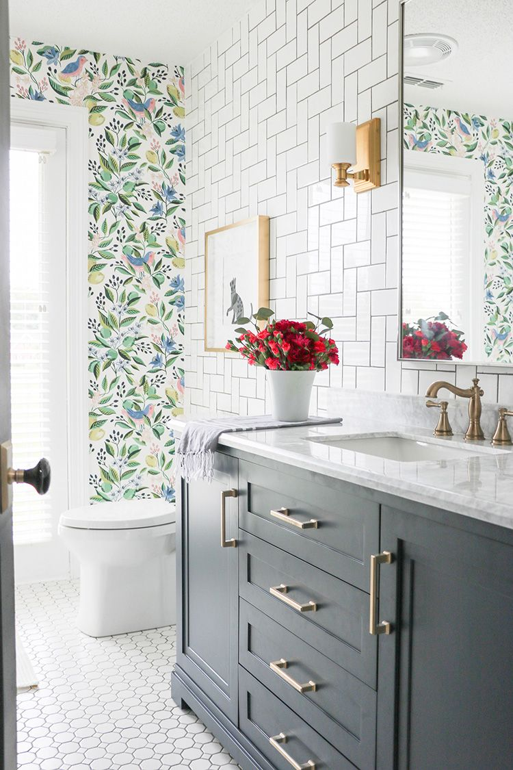 A Colorful Oasis Bathroom Makeover The Home Depot Blog Small Bathroom Renovations Home Depot Bathroom Bathrooms Remodel