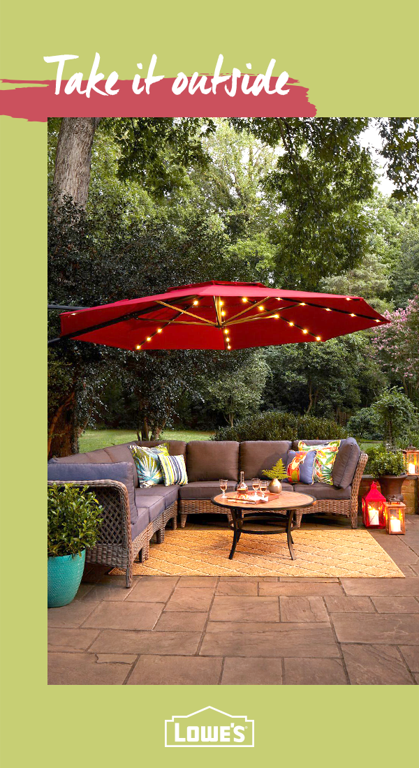 transform your backyard into an outdoor oasis with lowe s discover rh pinterest com