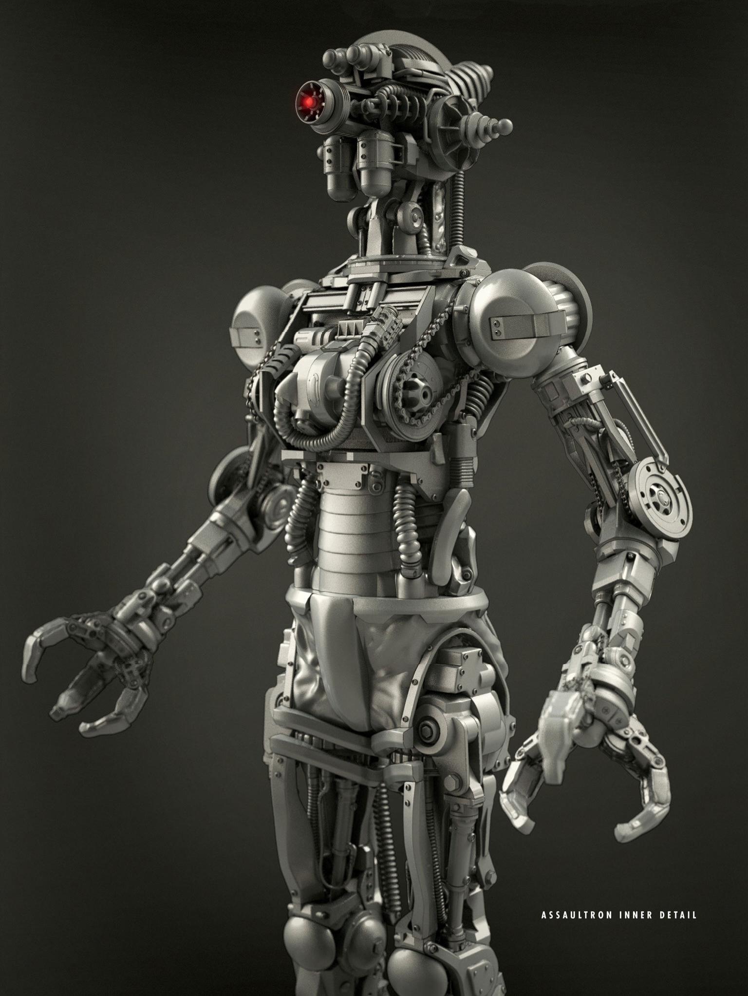 Assaultron Fallout Art Fallout Concept Art Fallout