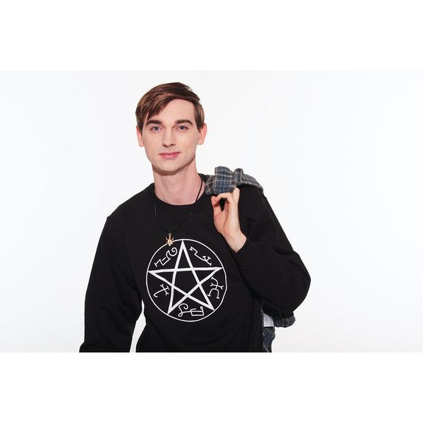 Supernatural Sweatshirt S-2xl Devil's Trap Winchester Dean Sam Hipster... (34 CAD) ❤ liked on Polyvore