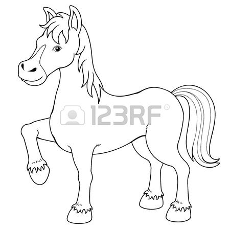 Stock Photo Caballo Para Colorear Libros Para Colorear Y