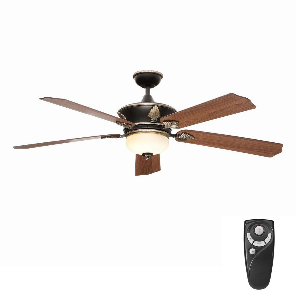 Home Decorators Collection Wineberg 60 In Indoor Old World Gold Ceiling Fan With Light Kit And Remote Control Ceiling Fan Gold Ceiling Fan Ceiling Fan With Remote