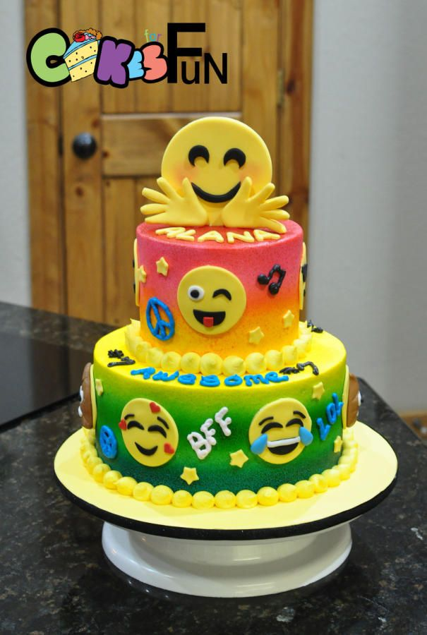 Emoji Birthday Cake Cake By Cakes For Fun Parties Pinterest