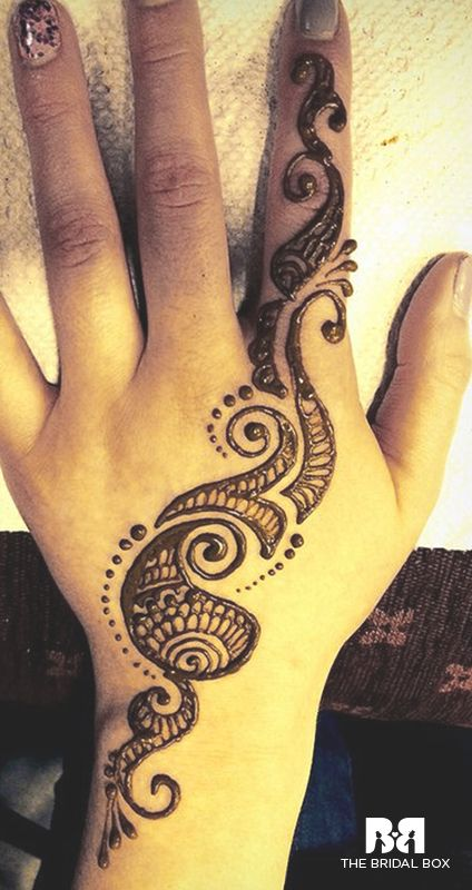 Unique And Easy Mehndi Designs : Single line mehndi designs best simple one