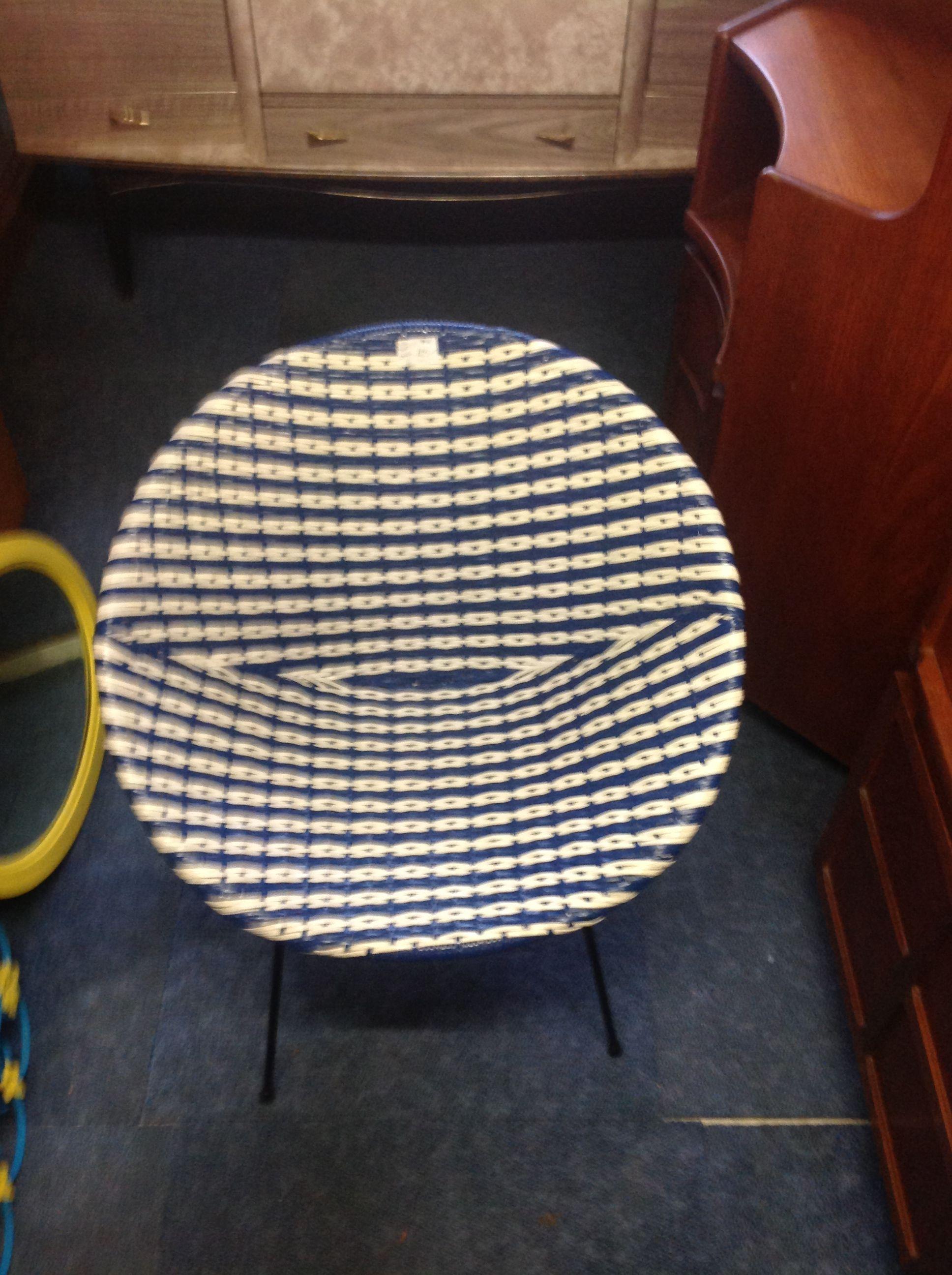 Funky Vinyl Basket Weave Chair 1960u0027s Excellent Condition Buy From My  Generation Retro Furniture Battlesbridge Essex SS11 7RE £75.00