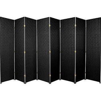 oriental furniture 84 x 128 8 panel room divider black screen rh pinterest com
