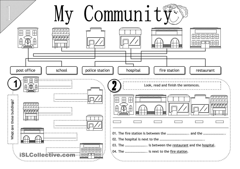 My Community   Social studies worksheets [ 1018 x 1440 Pixel ]