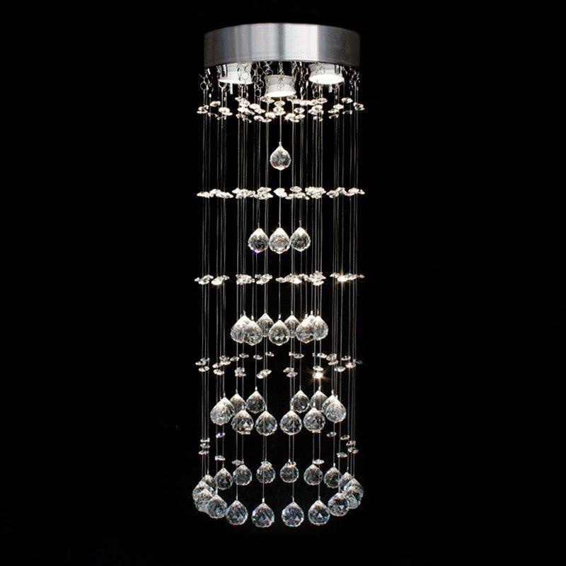 Lustre de Cristal Original Dublin com Base em Aço Inox Polido para 3 ...