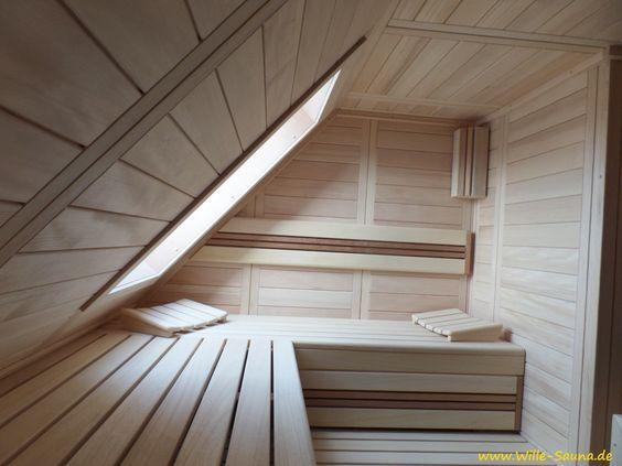 Realisierung einer Sauna unter einer Dachschräge, in der auch ein - schlafzimmer ideen dachschräge