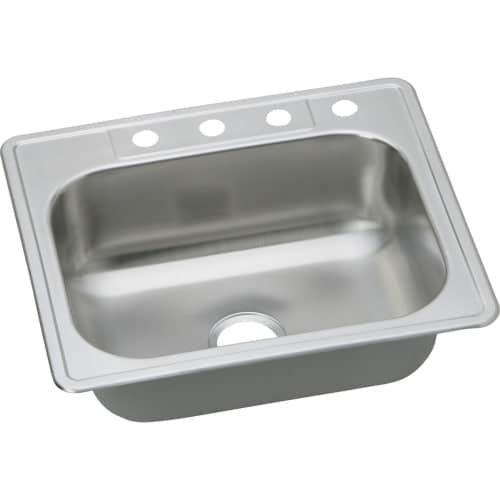 elkay dse12522 dayton 25 single basin drop in stainless steel rh pinterest com