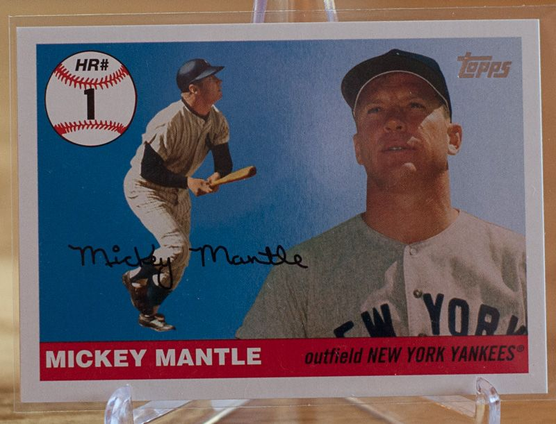 Mickey Mantle 2006 Topps Home Run History This Card Is Available For Dibs By Members Of Our Batter Up In The Hole On D Mickey Mantle New York Yankees Homerun