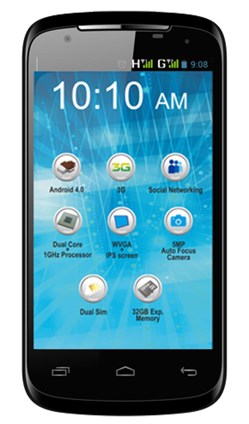 Celkon A200 Android 4.0 1G CPU 4.3 inch Capacitive
