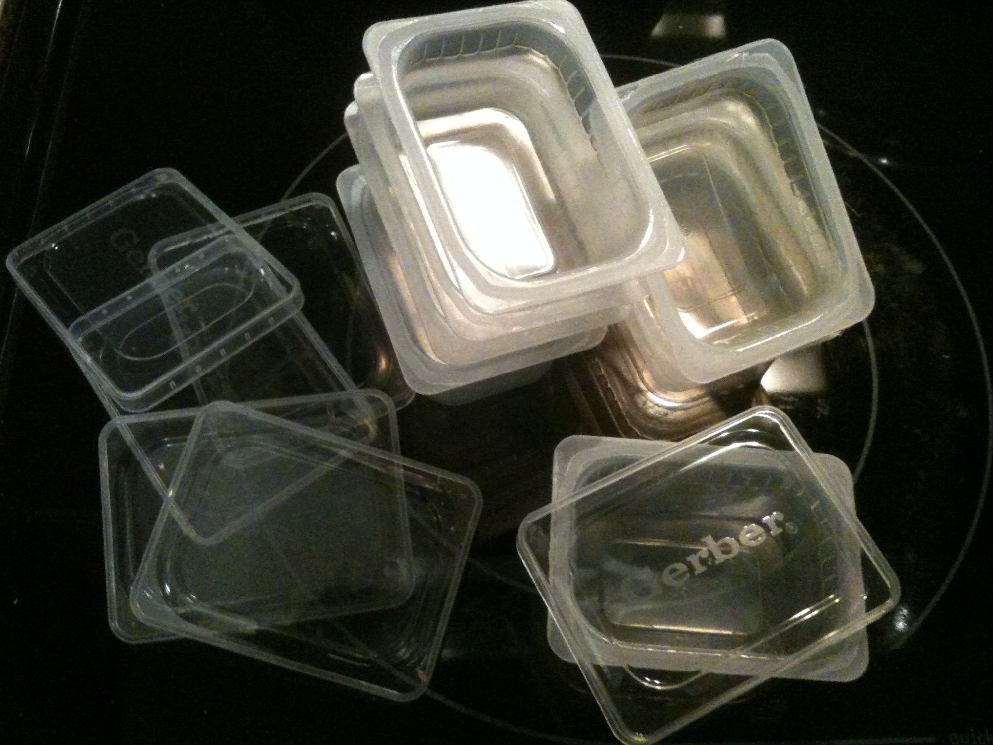 empty gerber food containers