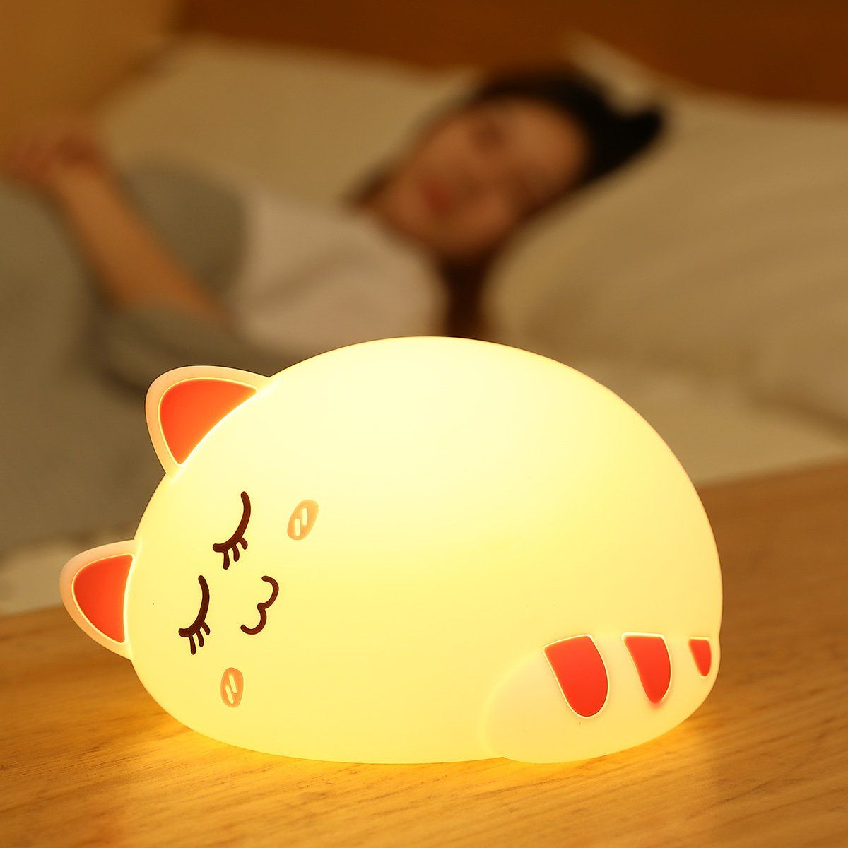 Best Nightlight For Sleep Onefire Baby Led Nursery Night Light For Kids Tap Control Soft