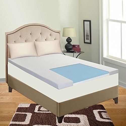 Cool Gel Memory Foam Topper For Queen Size Mattress Provides