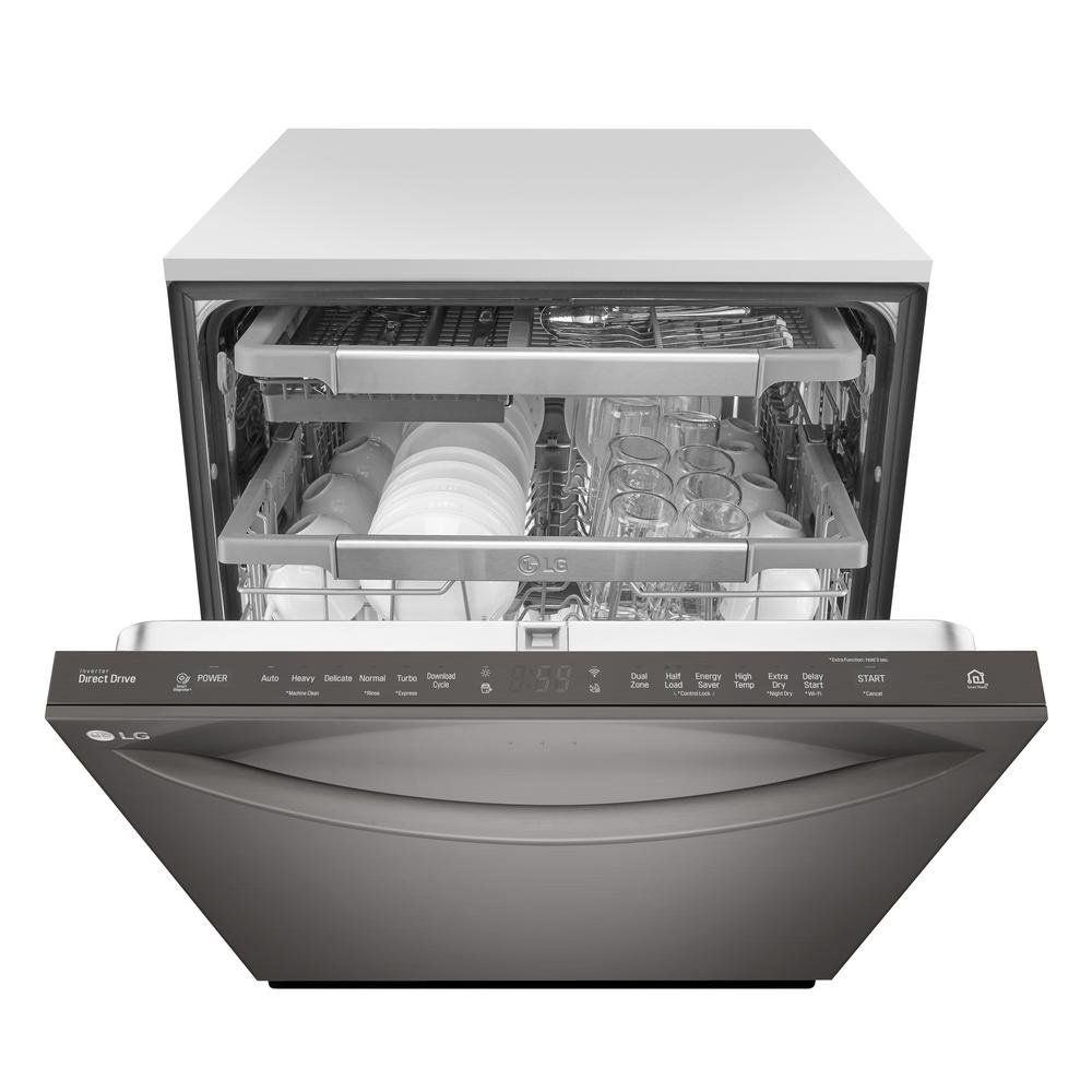 Lg Dishwasher With 3rd Rack Black Stainless Steel Integrated