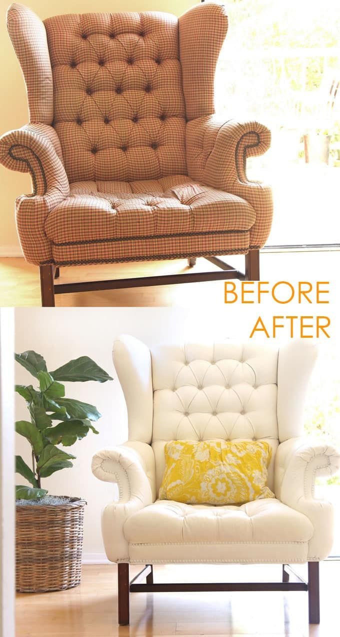how to paint upholstery old fabric chair gets beautiful new life rh pinterest com