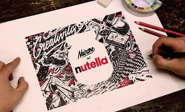 Nutella Jar Revisited with Eye-Catching Illustrations – Fubiz™