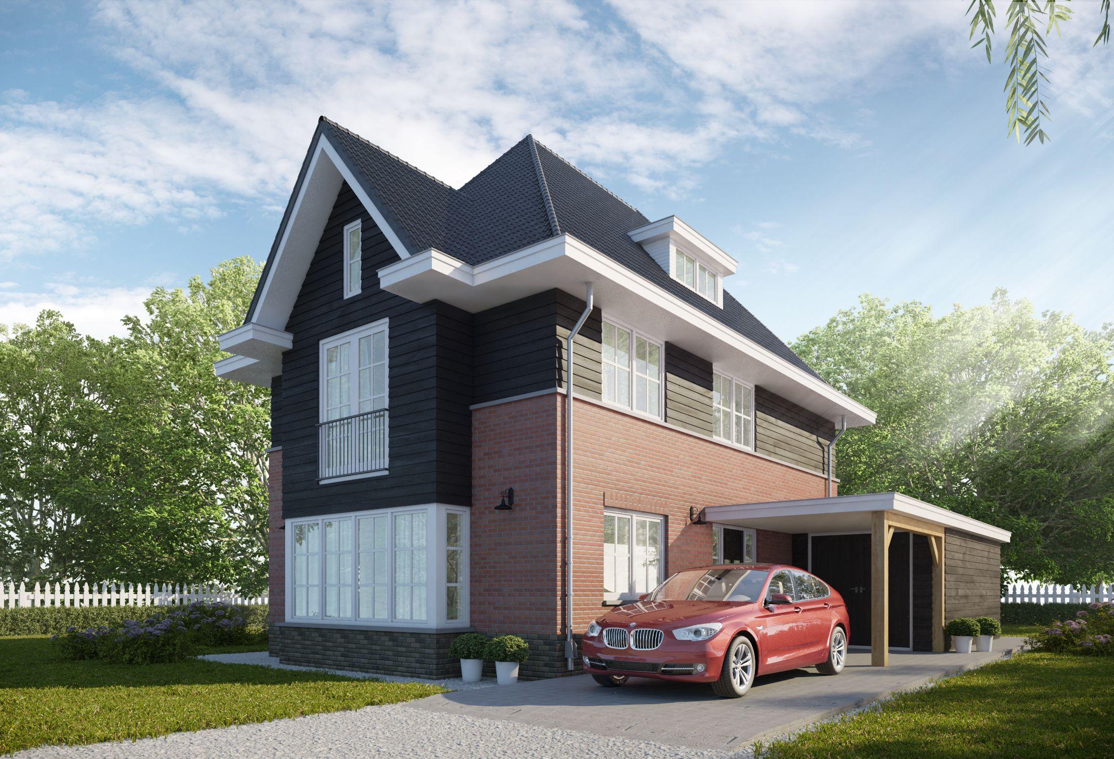 Ontwerp jaren 30 woning samen met buitenhuis villabouw for Huizen jaren 30 stijl
