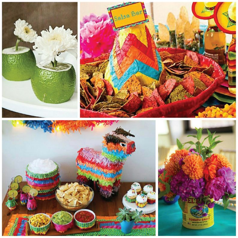 Pin de derly cardona en 15 a os camila mexicana for Decoracion kermes mexicana