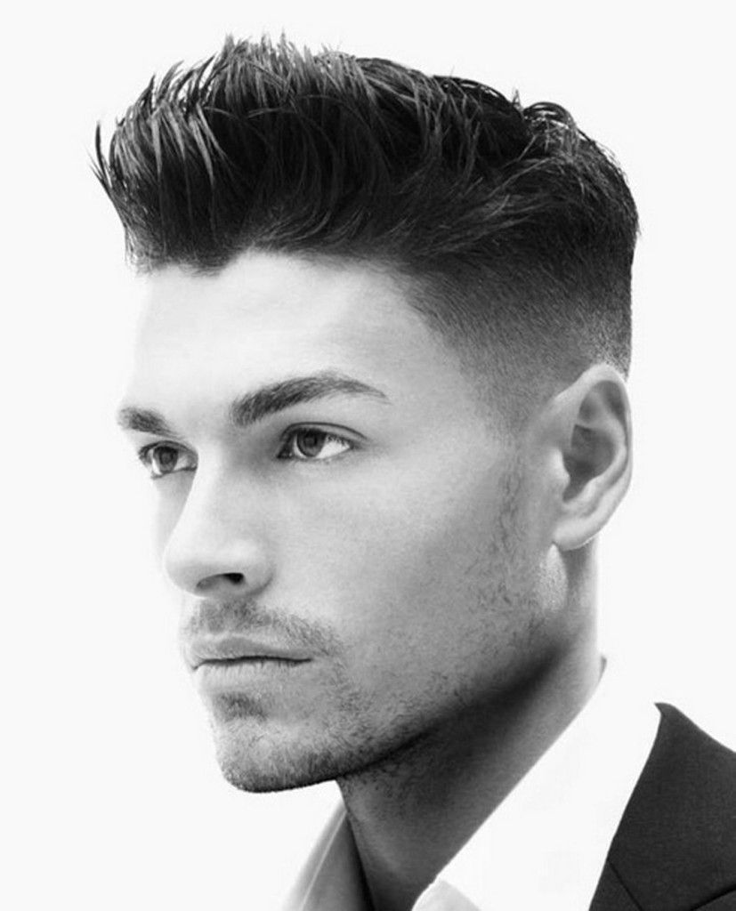 Faded modern haircut. Male hairstyle, grooms, wedding. | Wedding ...