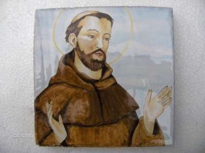 st francis assisi majolica deruta by emanuele7905 on Etsy, $80.65