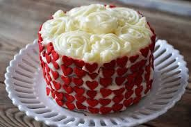 Image result for decorating red velvet cake
