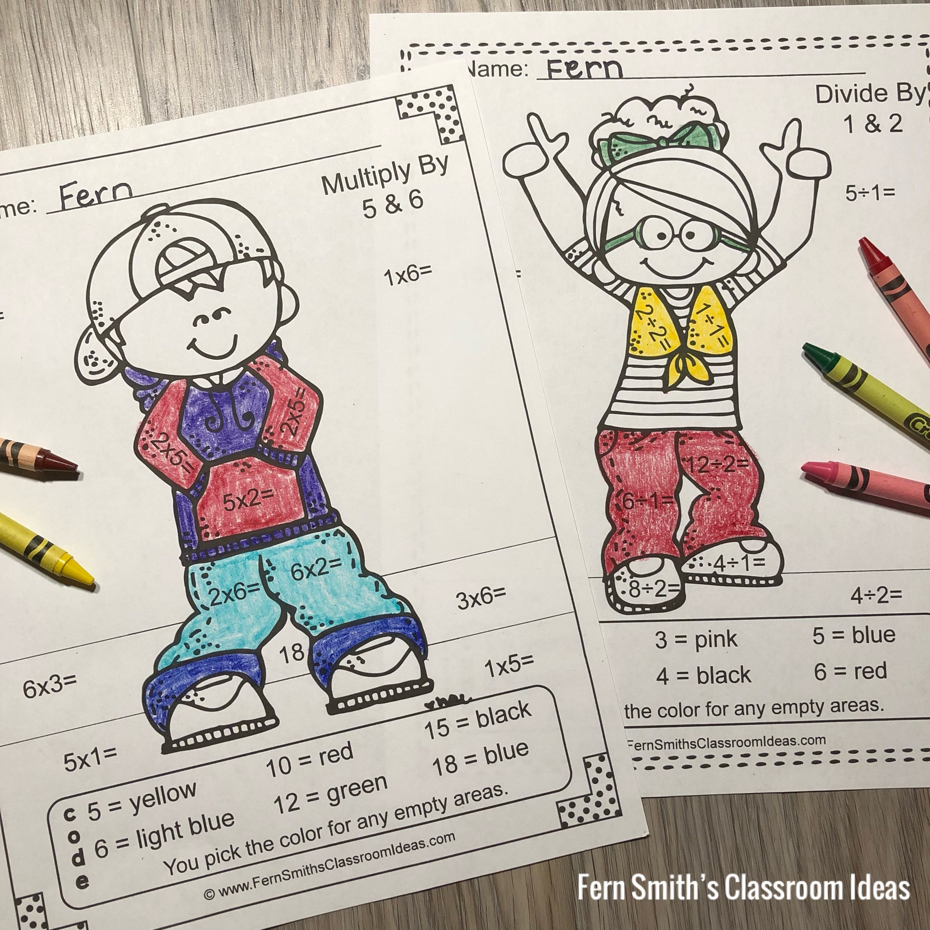 Color By Numbers Happy Students Multiplication And