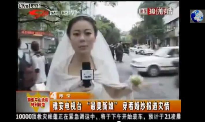Reportera cubrió el terremoto en China con su vestido de novia | Clases de Periodismo