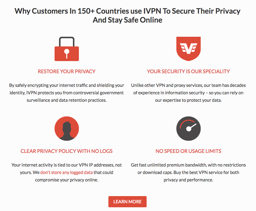 IVPN Features  #vpn #internet #security #encryption #cybersecurity # anonymous #bigdata #hackers #tech