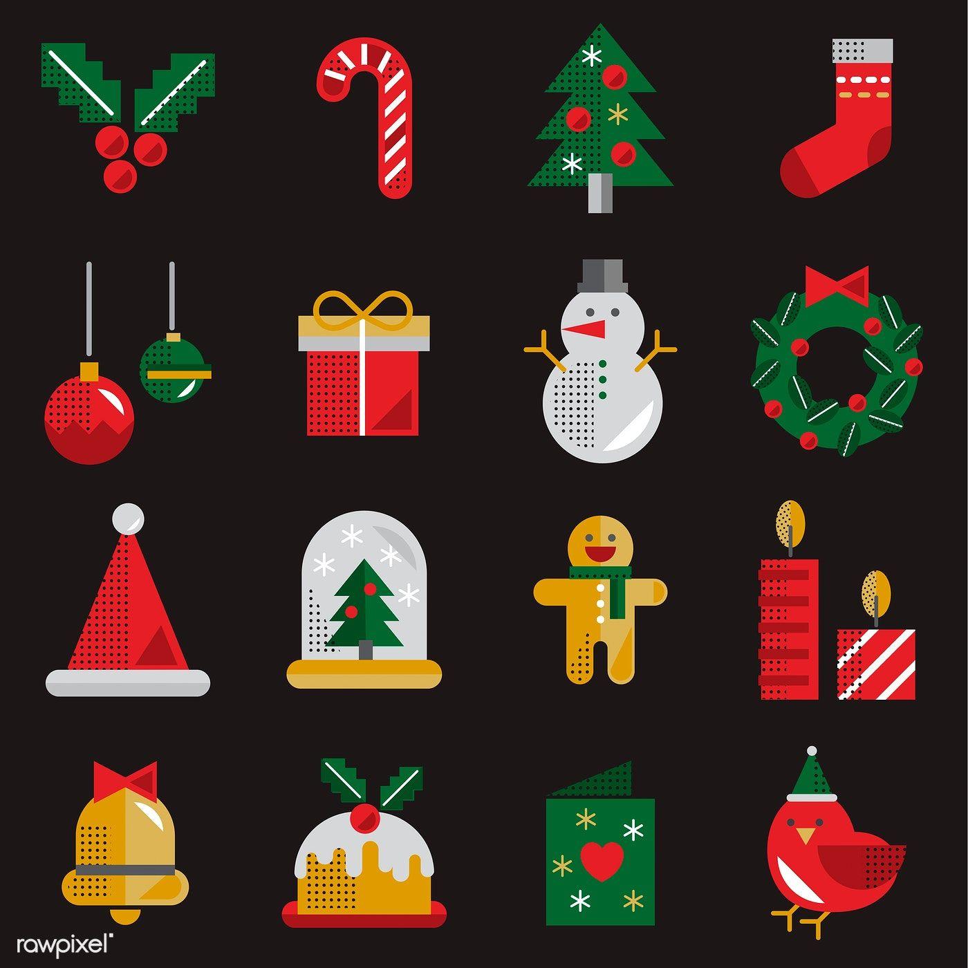 Download premium vector of Round Christmas frame design
