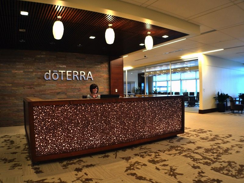 Reception Desk At Doterra Headquarters Corporate