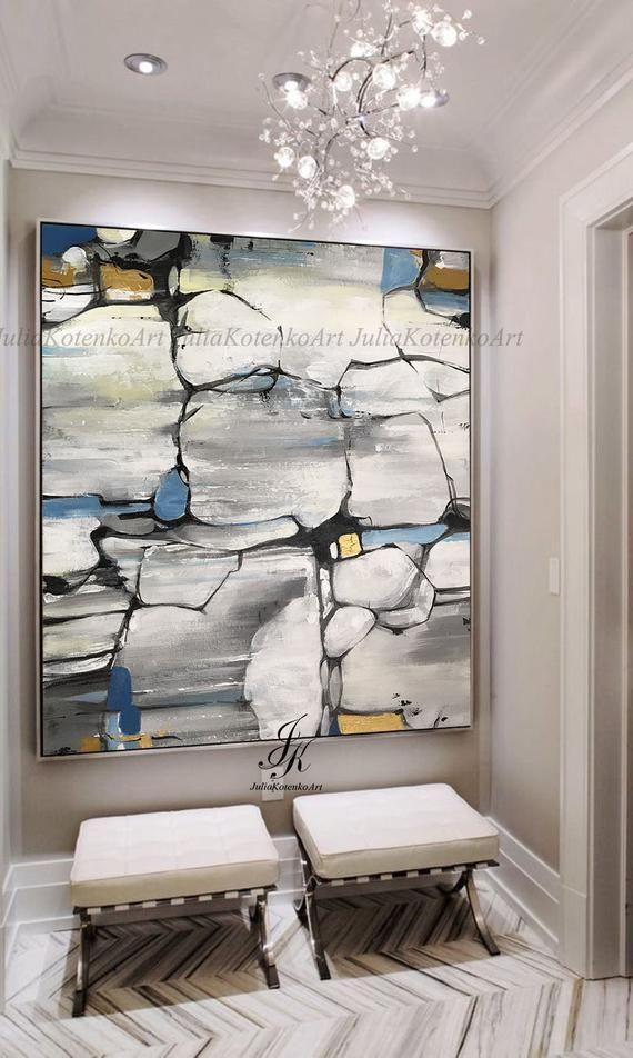 Abstrakte Malerei Grosse Wandkunst Strukturierte Kunst Grosse Leinwand Etsy Canvas Painting Abstra Modern Abstract Painting Large Canvas Art Texture Art