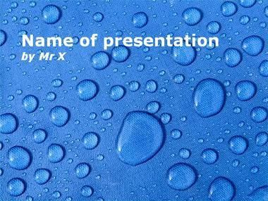 Water Drops Powerpoint Presentation Template  Blue Powerpoint