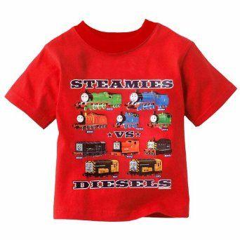 Amazon Com Thomas The Train Steamies Vs Diesels Cotton Shirt