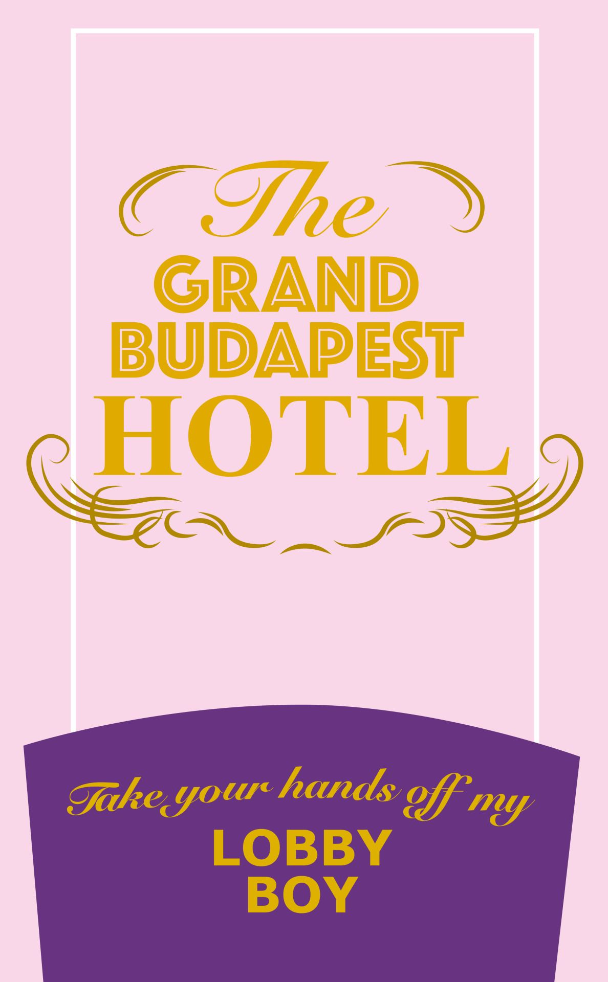 – Some minimalist posters I did. ✨– 【 3 / 4 The Grand Budapest Hotel 】