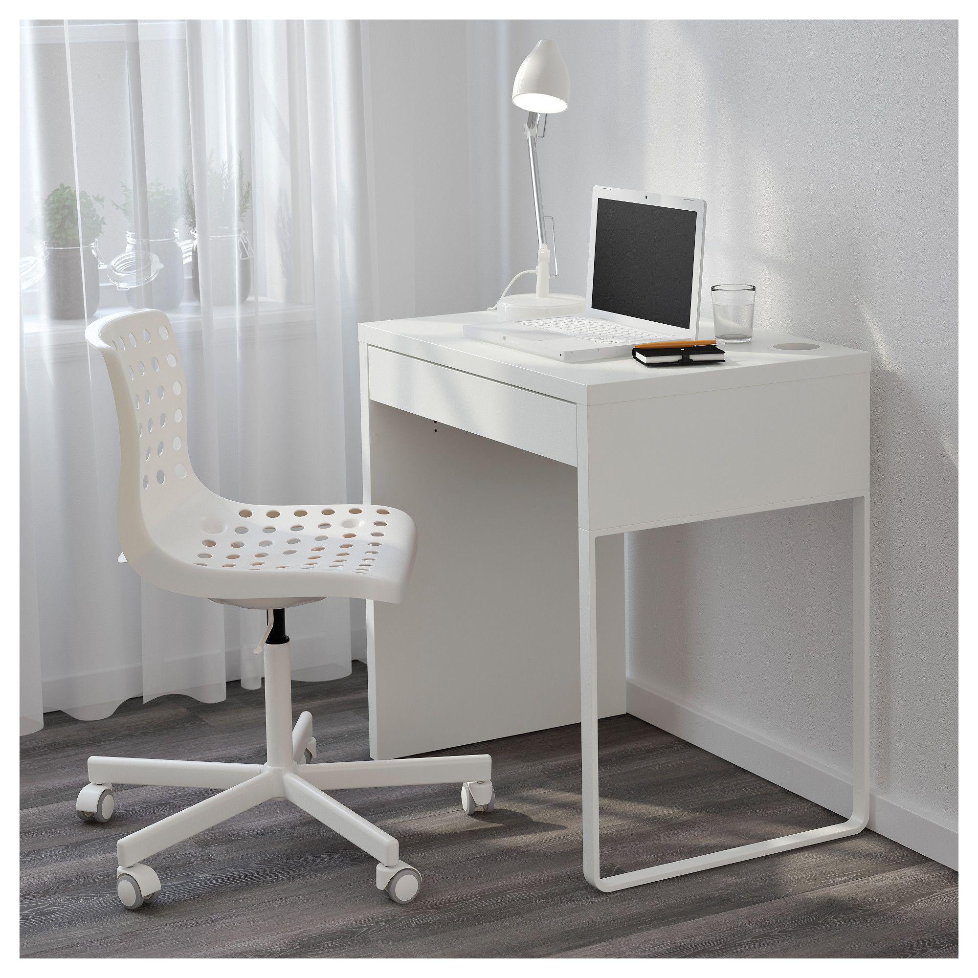 Micke White Desk 73x50 Cm Ikea Desks For Small Spaces Micke Desk Best Home Office Desk