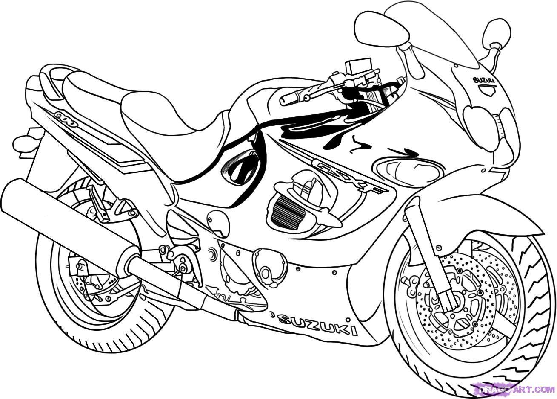 Tattoo Coloring Pages   how to draw a sport bike, 2006 suzuki katana ...