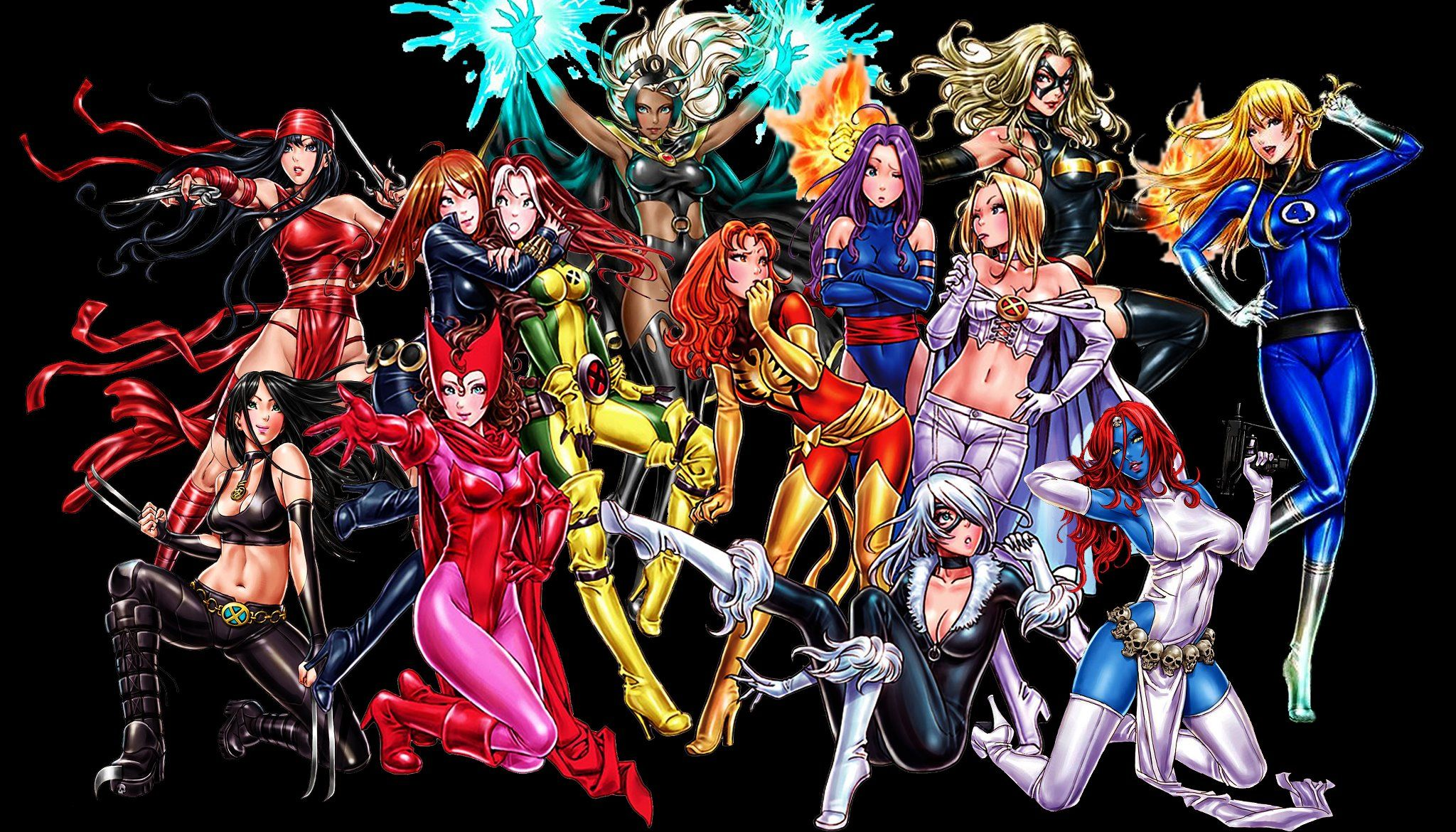 Anime Characters Vs Superheroes : Anime style ladies of marvel and dc by shunya yamashita